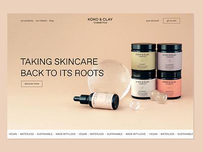 koko&clay cosmetics packaging skincare beauty cosmetic