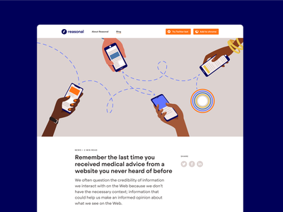 Reasonal Blog illustration blog design ui webdesign blog