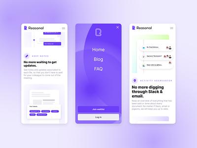 Reasonal Website berlin productivity website webdesign ui startup brand identity brand design