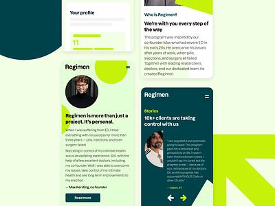 Regimen website berlin mobile design uxui ui webdesign