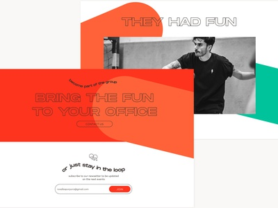 Homepage Pong Crunch ux sport table tennis pingpong ui brand identity startup design branding brand design webdesign website