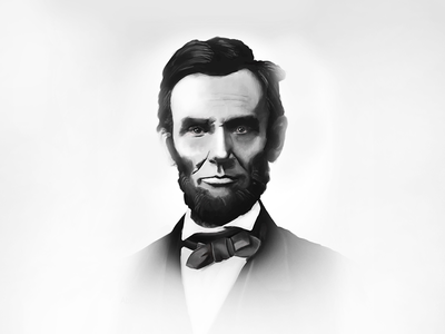 Abraham Lincoln Painting lettering typography design illustration retro drawing old painting
