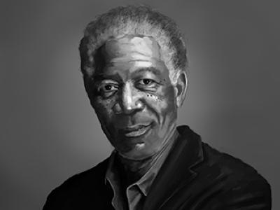 Painting - Morgan Freeman painting morgan freeman photoshop