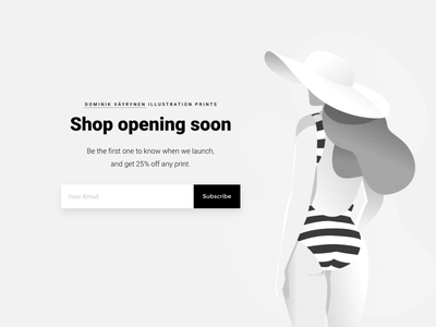 Shop Opening shop print affinity beach designer female grey hat illustration white woman helsinki