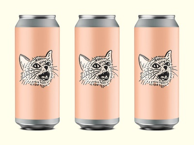 Sassy cat beer branding cat drawing cat cat lady beer can beer design drawing illustration