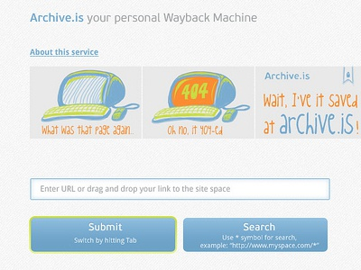 archive.is ux ui illustration web design web service