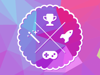 Gamification Badge gamification design flat icons badge