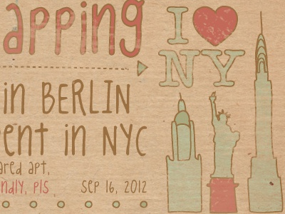 House-swapping Infographics, fragment infographics nyc sketch icons