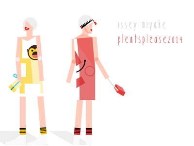 ISSEY MIYAKE Pleatsplease 2014 fashion illustration fashion illustration monochrome flat material design issey miyake