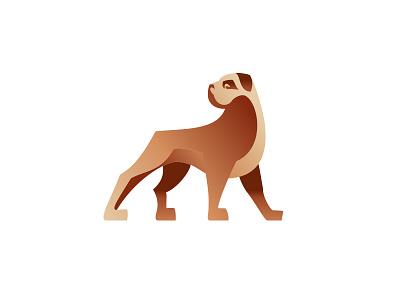 TTF logo gradient logo dog