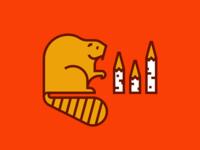 Busy Beaver orange design illustration animal icon vector illustration vectorart vector beaver animal illustrations animal art