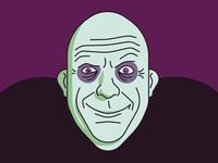 Uncle Fester vectorillustration vector bald halloween creepy illustrator illustration addamsfamily unclefester fester