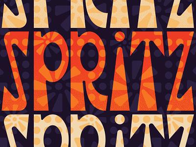 Spritz Type packaging illustration design illustrator logo branding typography pattern vector type