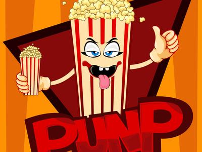 Pop Corn Mascot Logo