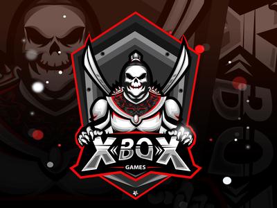Skull Gaming Mascot Logo
