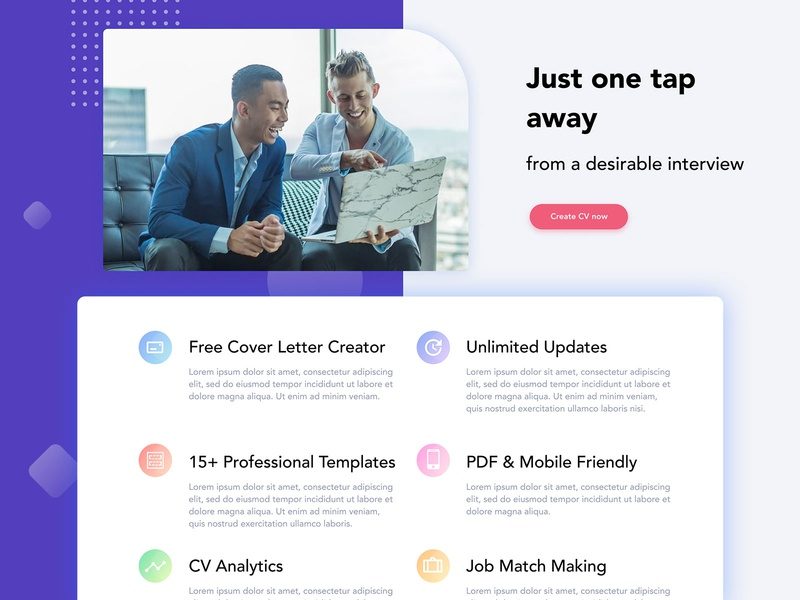 Switch blabla CV template