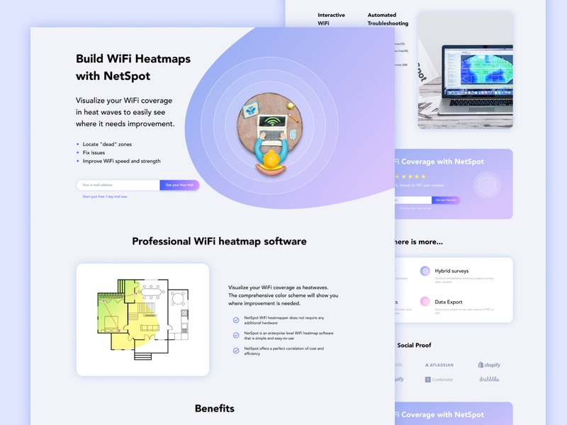 Landing page for Netspot