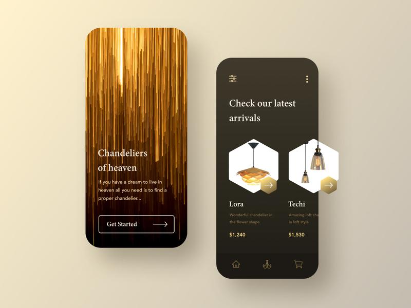 Chandelier store mobile app