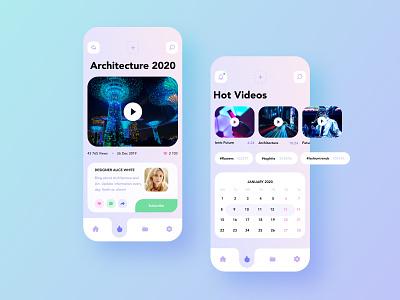 Youtube app modern app simple interface ui design uidesign ui  ux uiux ui iphone app mobile app design mobile design mobile app mobile ui mobile concept design concept