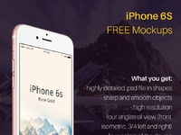 Juless design iphone 6s mockup psd free preview