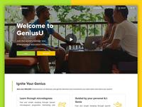 Website GeniusU - entrepreneur education platform