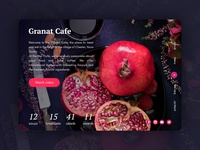 Daily UI #003 - Granat Cafe Landing