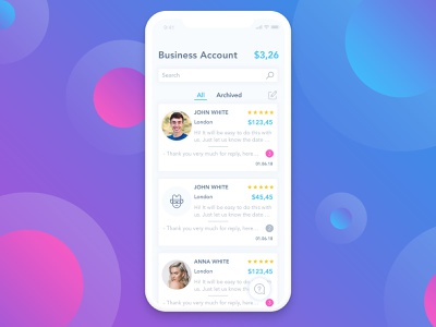 Chat Screen for iPhone X gradient design gradient color chat bubbles iphone x app iphone x unser interface designer user interface design user interface ui user interface app dashboard messanger interface design templates interface design messenger message chat app chat