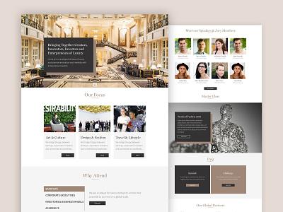 Luxury Venture Day Website fashionable uiux ui  ux ui design uidesign ui minimalistic design minimalistic minimal golden luxurious fashion event event fashion clean design website