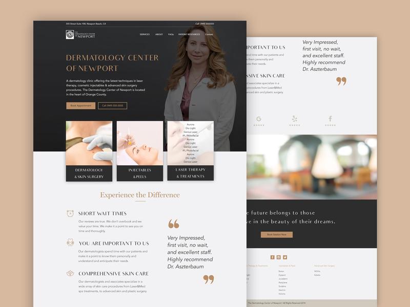 Dermatology website