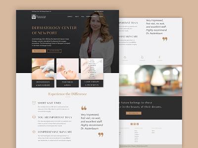 Dermatology website minimalistic minimalist minimal stylish modern interface ui design uidesign ui dermatology webdesigner webdesign website design websites website