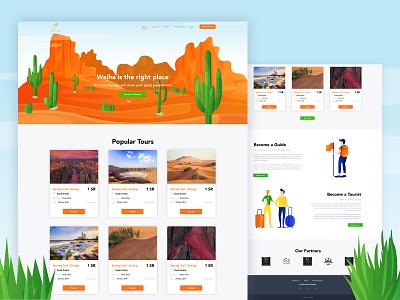 Wejha website design web design landscape design arabic tourism web website design trouristic tourist travel agency travelling webdesign website