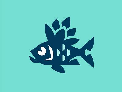 Ruffe bottle geometry hop malt water ruffe minimal logo fish beer