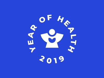 Year of health in Udmurtia pharmacy clinic hospital event round geometry minimalism logo city human people heart health year