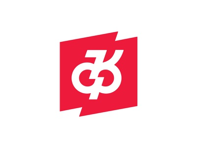 Monogram branding symbol sign badge logo k monogram rock dynamic drive music lightning red flag minimalism letter monogram