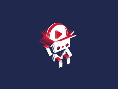 Unpacking star business illustration logotype logo play youtube box unpacking