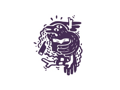 Curiously stamp vape time smoke logotype logo ex-libris crown concept cafe