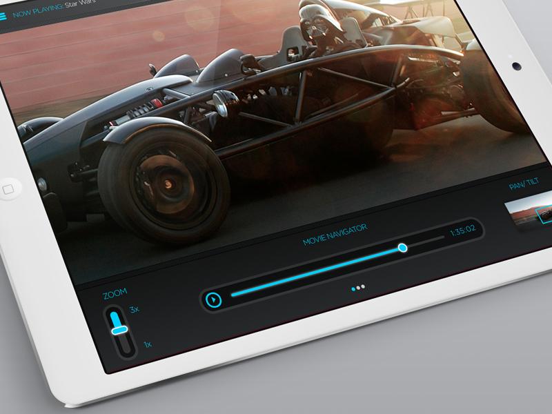 RTi Movie Player movies streaming player video ipad app ios controls ui ux