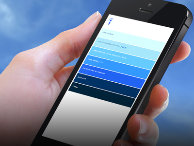 Indeed Re-imagined - Home job search app ios apple indeed search hands iphone