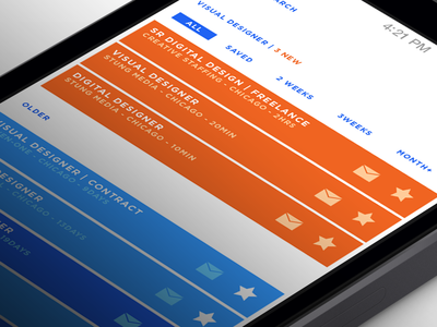 Indeed Re-imagined - Results search job app ios apple iphone ux ui
