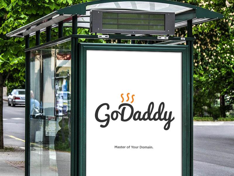 Go Daddy Now typography identity design branding logo design logo