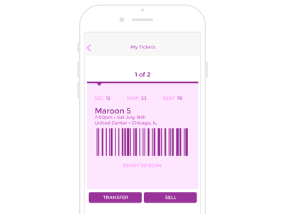 Mobile Ticket Concept