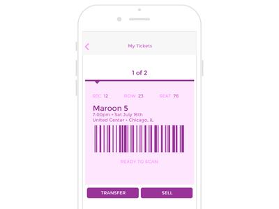 Mobile Ticket Concept interface design user experience app app design mobile ui ux