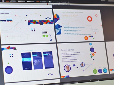 Design Language type fonts vector logo identity mobile shapes branding layout design