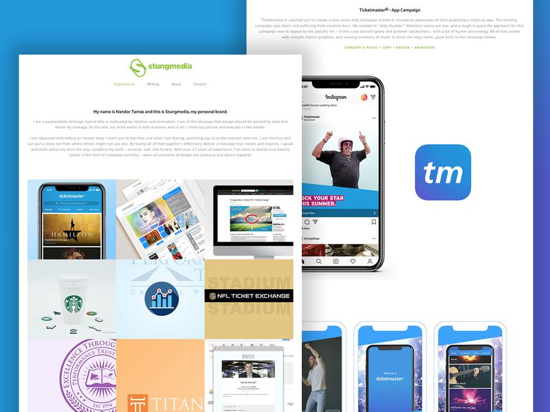 New Portfolio Site creative director mobile visual designer uid ux design strategy branding portfolio