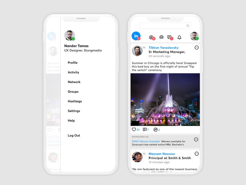 LinkedIn Mobile app ui linkedin mobile iphone ios ux ui