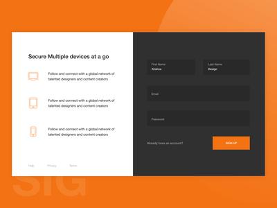 Login Page - UI concept