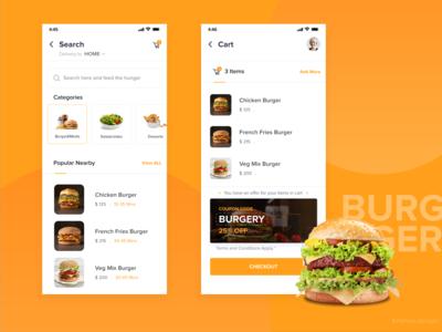Food delivery App UI