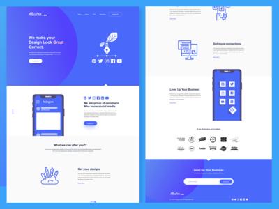 Illustro. Website Design
