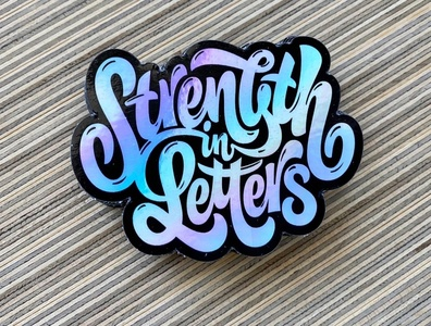Strength in Letters - Sticker