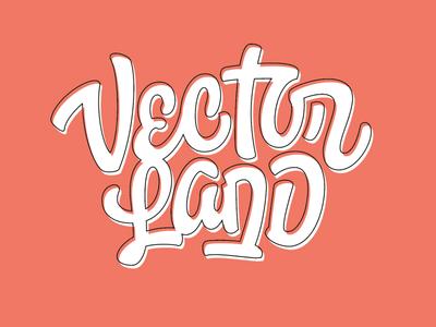 VectorLand typography branding vector pencil pushers lettering vectors vectorland custom logotype logo